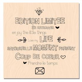 Tampon bois Edition Limitée - Mademoiselle Tendresse - Les ateliers de Karine