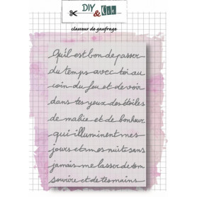 Classeur de gaufrage A6 Petit message – Diy & Cie