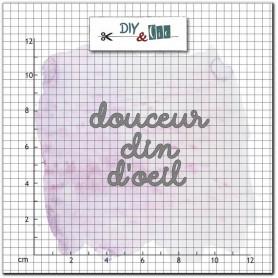 Dies Douceur clin d'oeil 2 pc - Jolis mots - Diy & Cie