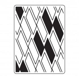 Classeur de gaufrage A6 Rectangles – Darice – Embossing folder Multi lines