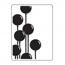 Classeur de gaufrage A6 Ballons – Darice – Embossing folder Multi lines