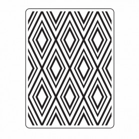 Classeur de gaufrage A6 Fond Diamant – Darice – Embossing folder Diamond Background