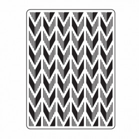 Classeur de gaufrage A6 Fond Flèche – Darice – Embossing folder Arrow Background