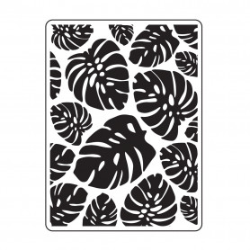 Classeur de gaufrage A6 Feuilles Tropicales – Darice – Embossing folder Trop Leaf Background