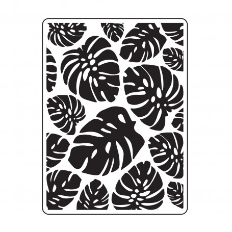 Classeur de gaufrage A6 Feuilles Tropicales – Darice – Embossing folder Trop Leaf Background