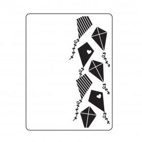 Classeur de gaufrage A6 Cerfs-volant – Darice – Embossing folder Kites Background