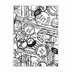Classeur de gaufrage A6 Passeport – Darice – Embossing folder Passport