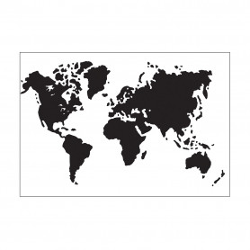 Classeur de gaufrage A6 Carte du monde – Darice – Embossing folder World map