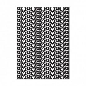 Classeur de gaufrage A6 Tricot – Darice – Embossing folder Knit Sweater
