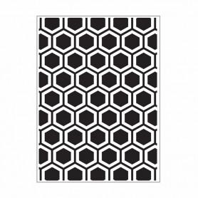 Classeur de gaufrage A6 Honeycomb – Darice – Embossing folder