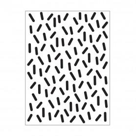 Classeur de gaufrage A6 Sprinkles – Darice – Embossing folder