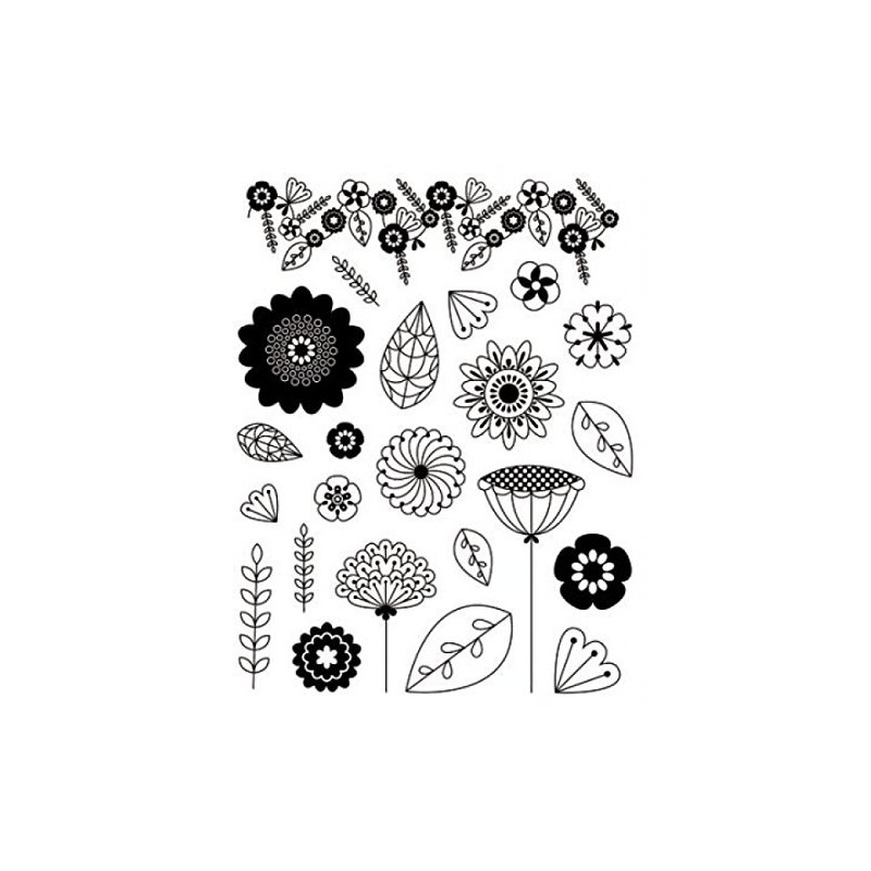 Tampons Fleurs et feuilles Artemio