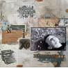 Set de papier 30x30 En toutes lettres 6f et 1 planche d'étiquette - Lorelaï Design