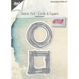 Dies Sketch Art Circle and Square 2 pc - Joycraft