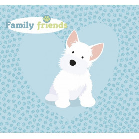 Kit album Family Friends Chiens 20x20 - Artemio