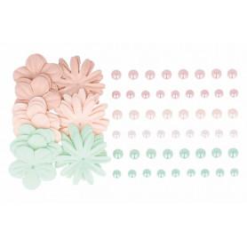 Perles adhésives et fleurs Secret Garden – Artemio