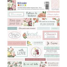 Stickers Textes Secret Garden - Artemio