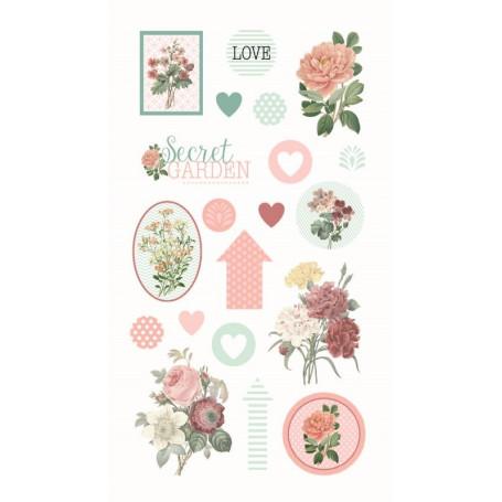 Stickers Epoxy Secret Garden 20 pc - Artemio