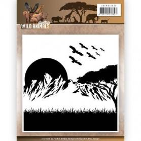 Classeur de gaufrage Animaux Sauvages - Amy Design - Embossing Folder Wild Animals
