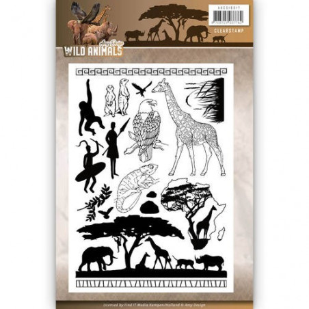 Tampons Animaux Sauvages - Amy Design Clearstamp Wild Animals
