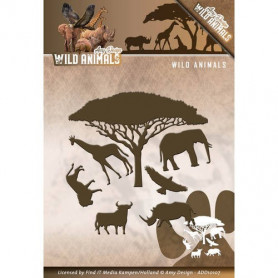Dies Wild Animals 7 pièces - Amy Design