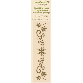 Classeur de gaufrage Frise neige 23x130mm - Leane Creatief Embossing folder Border Snow