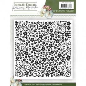 Classeur de gaufrage 124x124mm Fantastic Flowers - Precious Marieke Embossing folder