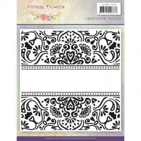 Classeur de gaufrage 124x124mm Vintage Flowers - Jeanine's Art Embossing folder