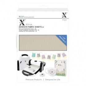 Feuilles adhésives tissu A5 (10pc) - Xcut Xtra's Adhesive Fabric sheets