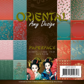 Set de papier 15x15 Oriental 23f – Amy Design