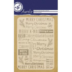 Classeur de gaufrage A6 Christmas Sentiments – Aurelie – Embossing folder