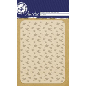 Classeur de gaufrage A6 Oiseaux – Aurelie – Embossing folder Flock of Birds