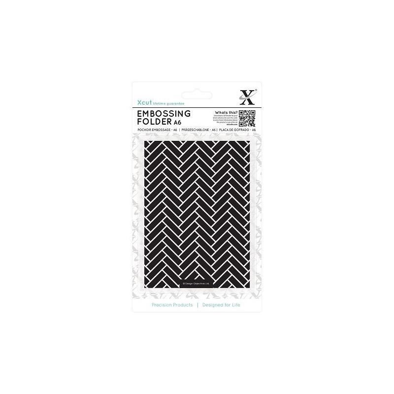 Classeur de gaufrage A6 Parquet Tiles – Xcut – Embossing folder