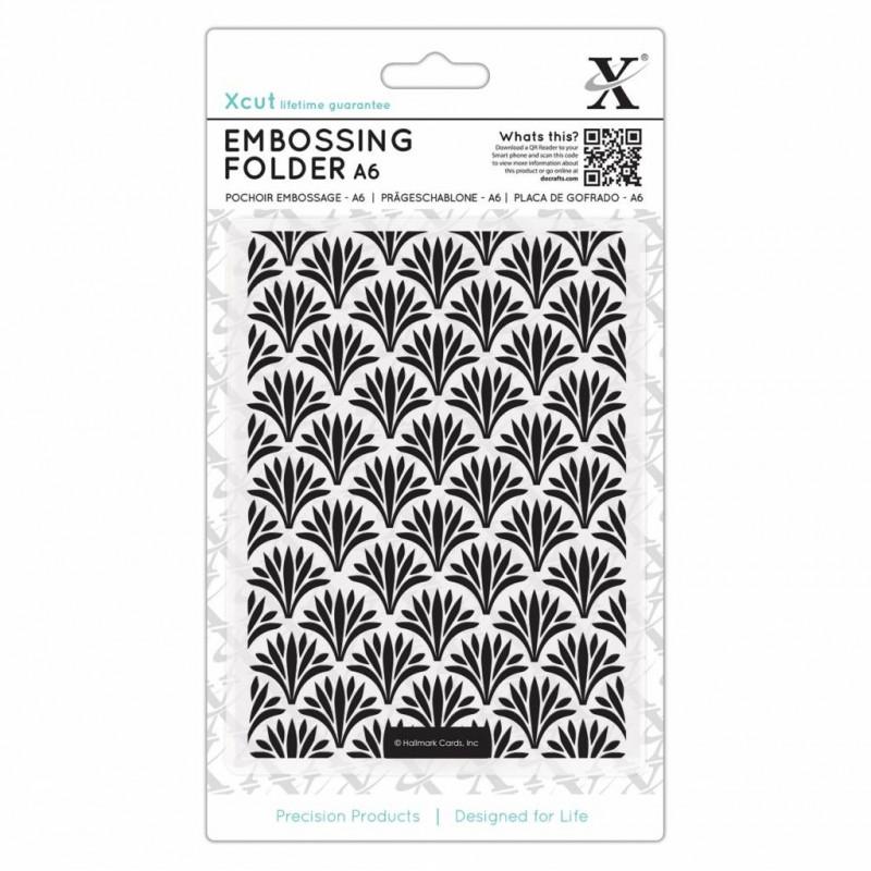 Classeur de gaufrage A6 Art Deco Pattern – Xcut – Embossing folder