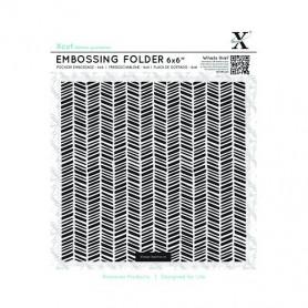Classeur de gaufrage 15x15cm Chevrons – Xcut – Embossing folder 6x6 Herringbone Pattern