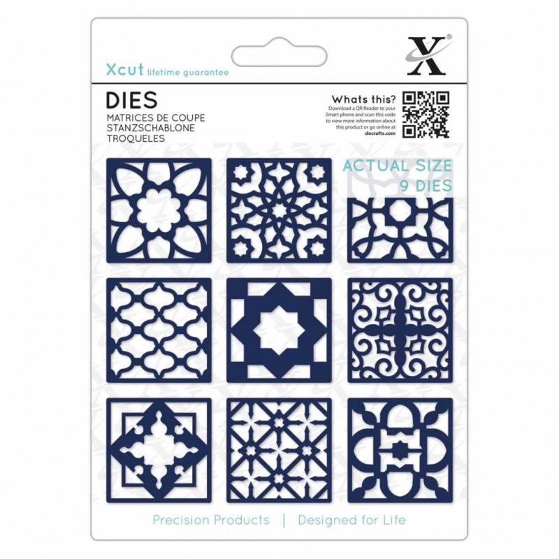 Dies Moroccan Tiles 9pc - Xcut