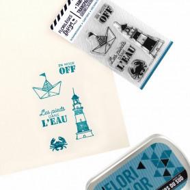 Tampons Les pieds dans l'eau - Bord de mer – Florilèges Design