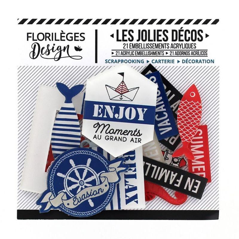 Les jolies décos Bord de mer 21 pc - Florilèges Design