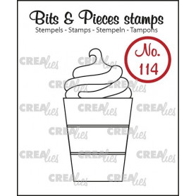 Tampon Hot chocolate cup – Bits and Pieces no 114 - Crealies