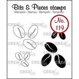 Tampons Coffee beans 4 pc – Bits and Pieces no 119 - Crealies