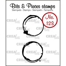 Tampons Coffee stains middle 2 pc – Bits and Pieces no 123 - Crealies
