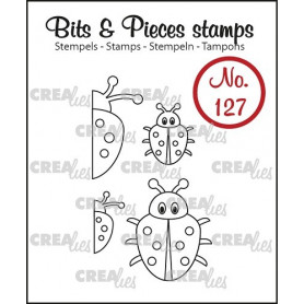 Tampons Ladybug 4 pc – Bits and Pieces no 127 - Crealies
