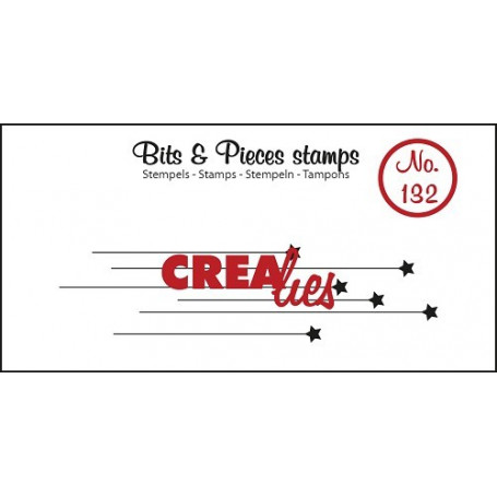 Tampon Hanging stars – Bits and Pieces no 132 - Crealies