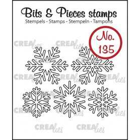 Tampon 5 Snowflake Outline – Bits and Pieces no 135 - Crealies