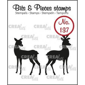 Tampons Rendeer 2pc – Bits and Pieces no 137 - Crealies