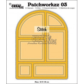 Patchworkzz Patchworkzz dies no. 3 Stitched patchwork in arc - Crealies