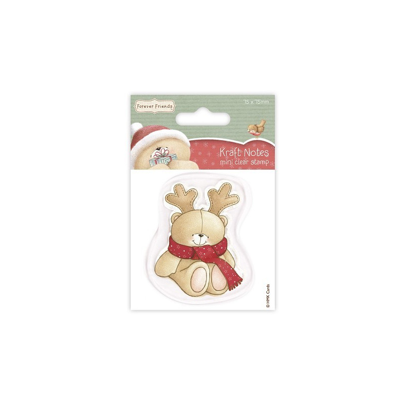 Mini Tampon Christmas Kraft Notes - Antlers - Forever Friends