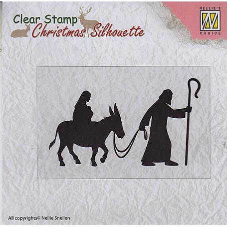 Tampon Christmas Silhouette Nativité - Nellie Snellen
