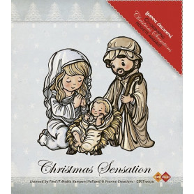 Tampon Jésus Marie et Joseph - Christmas Sensation - Yvonne Creations - Clearstamps