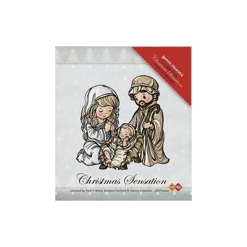Tampon Jésus Marie et Joseph - Christmas Sensation - Yvonne Creations - Clearstamps